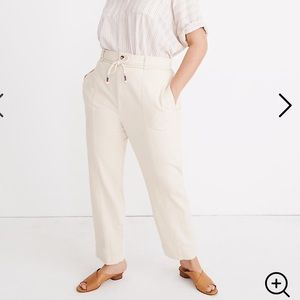 Madewell Tie Waist Tapered pants size 30